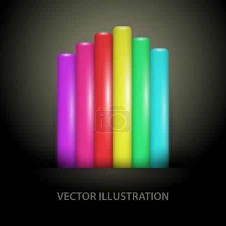 Photo pour Lignes de gradient arc-en-ciel - illustrations vectorielles - image libre de droit