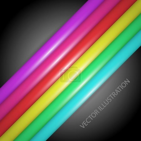 Rainbow gradient lines - vector illustrations