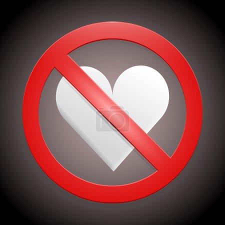 Vector sign - no broken hearts