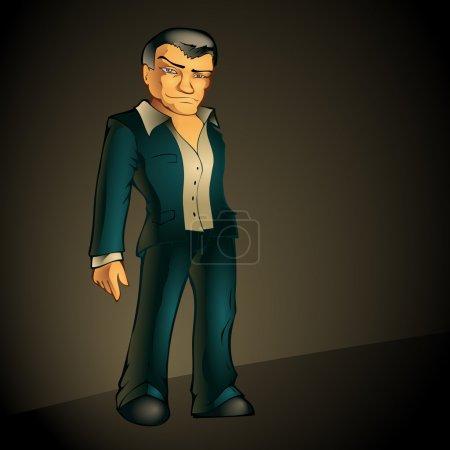 man in suit on dark background