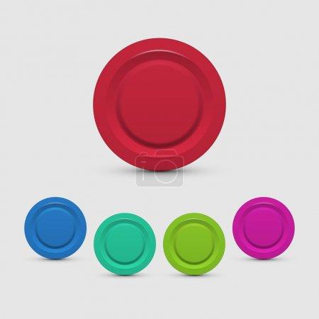 Illustration pour Ensemble de boutons colorés - image libre de droit