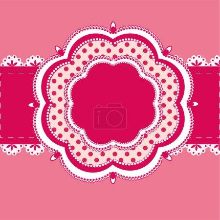 Illustration pour Cadre vectoriel vintage rose - image libre de droit