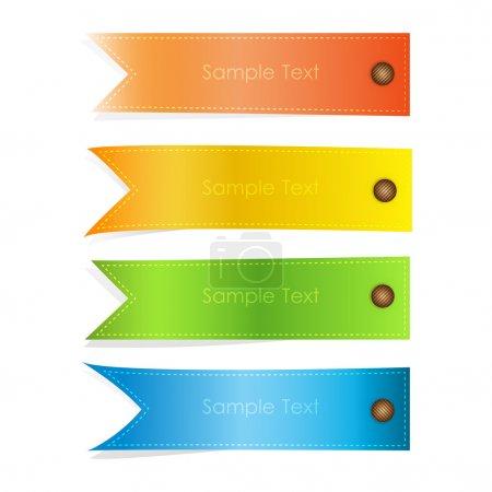 Illustration pour Ensemble de bannières vectorielles colorées - image libre de droit