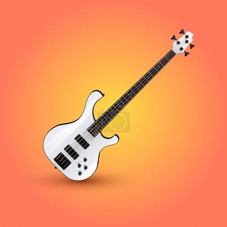 Electric guitar. Vector illustration.