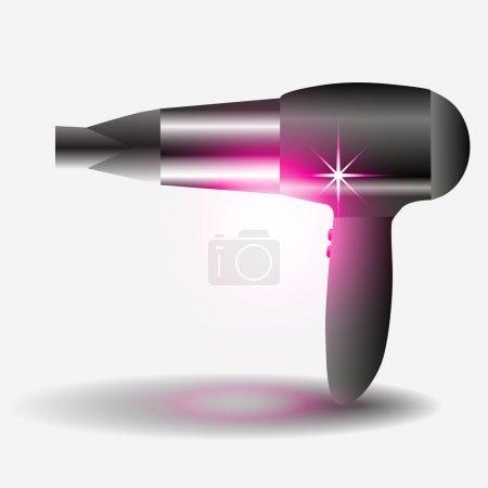 sèche-cheveux - illustration vectorielle