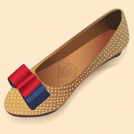 ballerina shoes. Vector illustration.