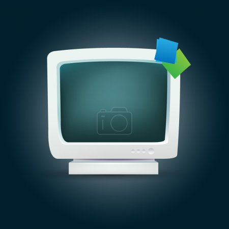 Vector monitor for computer