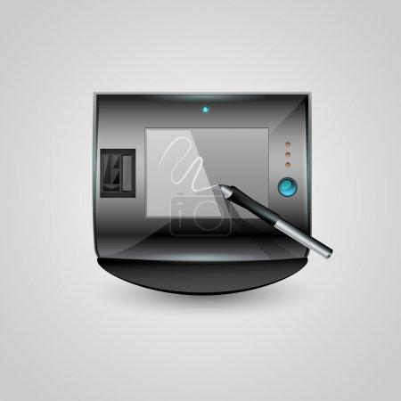 Illustration pour Icône de tablette graphique vectoriel - image libre de droit