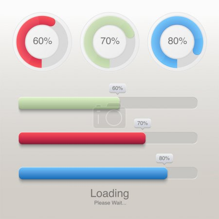 Collection of modern preloaders and progress loading bars
