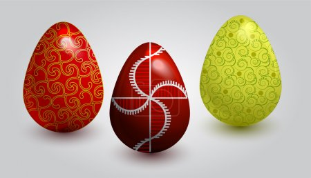 Illustration for Fine painted eggs designed for Easter - Royalty Free Image