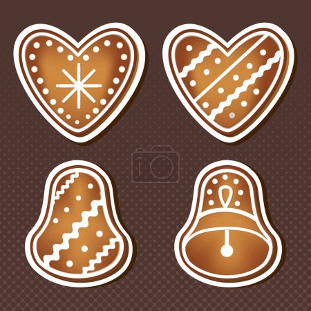 Christmas cookies. Vector illustration.