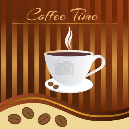 Illustration pour Carte horaire du café. Illustration vectorielle . - image libre de droit