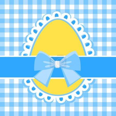 Illustration pour Oeuf de Pâques avec un arc - image libre de droit