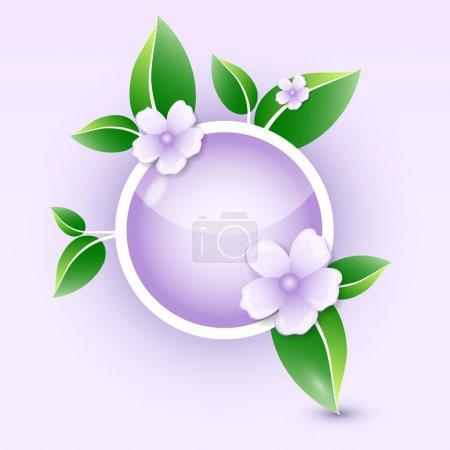 Illustration pour Icône florale. Illustration vectorielle . - image libre de droit