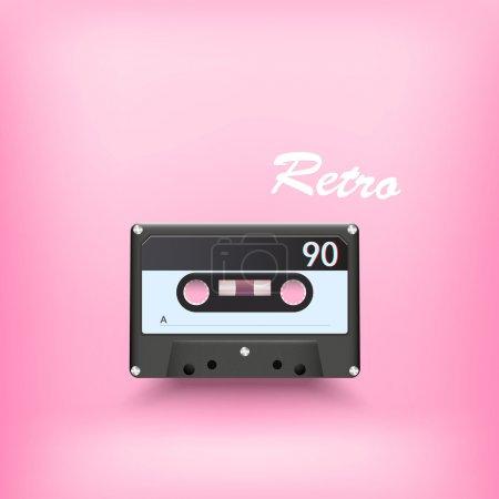 Illustration pour Cassette audio rétro. Illustration vectorielle . - image libre de droit