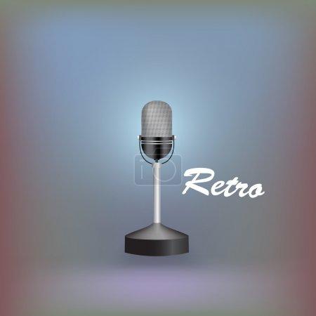 Retro microphone. Vector illustration.