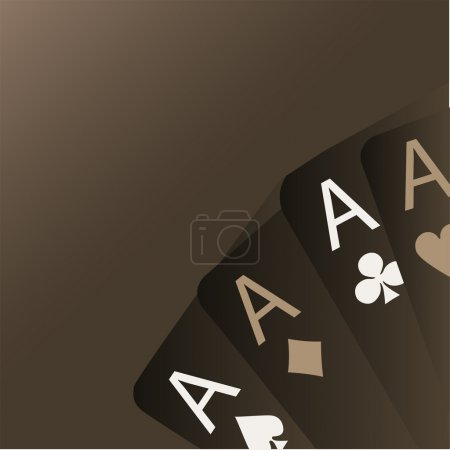 Photo for Four aces playing cards - Royalty Free Image