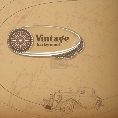 Vector vintage background. Vector illustration.