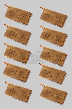 Set of sale stickers - vector illustration
