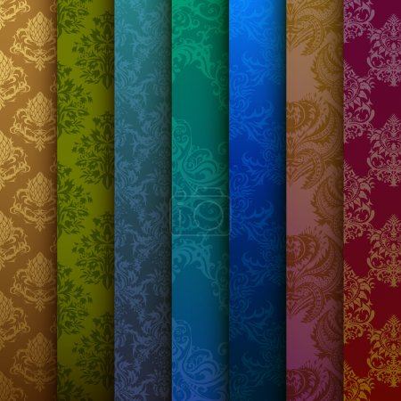 background of multi-colored curtains