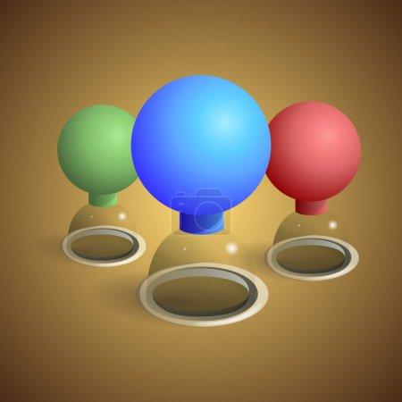 Illustration pour Illustration vectorielle des verres à tasse . - image libre de droit