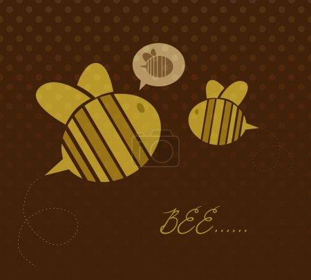 Illustration pour Jolies abeilles de dessin animé. Illustration vectorielle . - image libre de droit