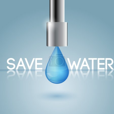 Illustration pour Le concept de conservation de l'eau - image libre de droit