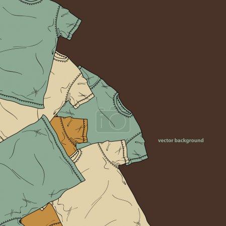 Illustration pour Chemises de fond. Illustration vectorielle . - image libre de droit