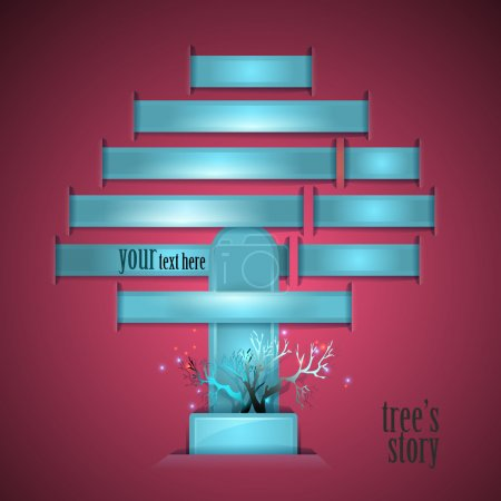 Illustration for Tree's story. Vector illustration. - Royalty Free Image