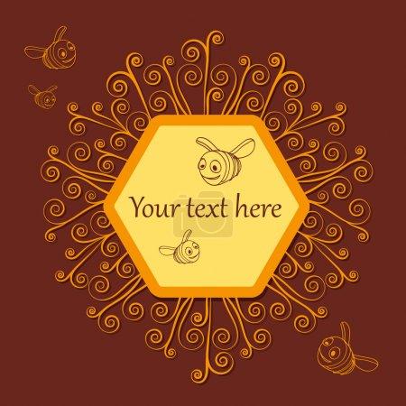 Illustration pour Abeilles et rayons de miel. texture - image libre de droit