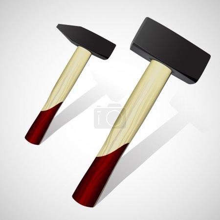 Illustration pour Deux marteaux. Illustration vectorielle - image libre de droit