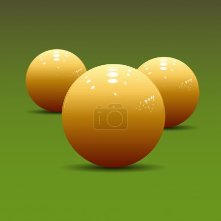 billiard balls on a pool table.Vector Illustration