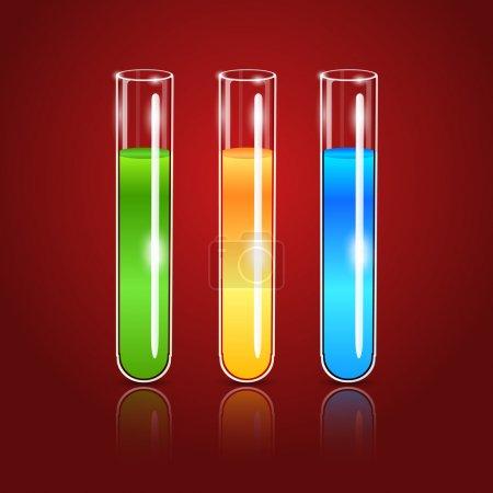Illustration pour Tubes à essai en verre vectoriel - image libre de droit