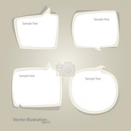 Vektor-Set von Sprechblasen