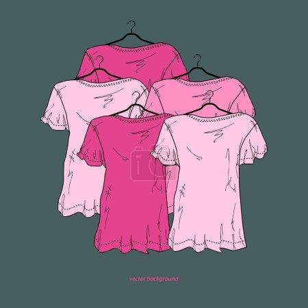 Illustration pour Chemises de fond, design vectoriel - image libre de droit