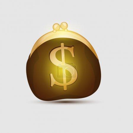 wallet - a symbol of money. Vector image