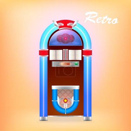 Vector illustration of retro juke box