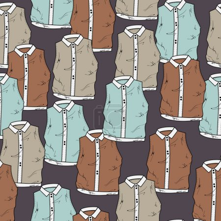 Illustration for Vector background with blouses. - Royalty Free Image