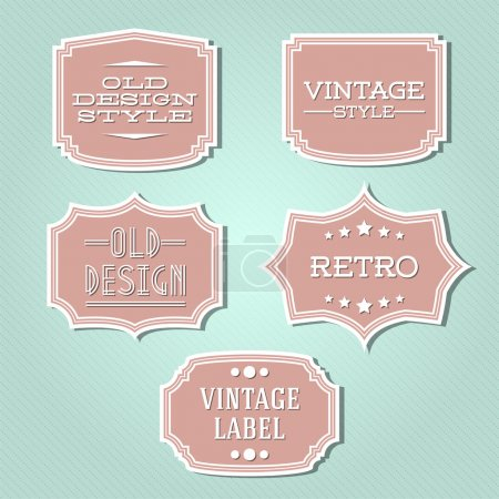 Illustration for Vector collection - vintage and retro labels - Royalty Free Image