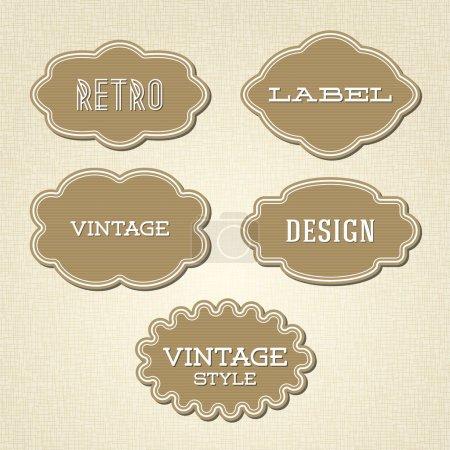 Illustration pour Collection vectorielle - étiquettes vintage et rétro - image libre de droit