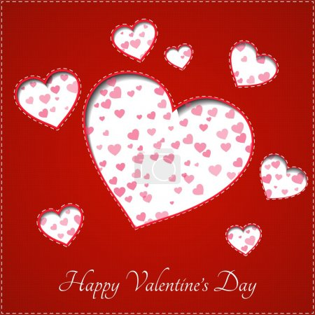 Illustration for Heart for Valentines Day Background - Royalty Free Image