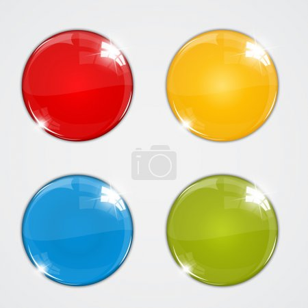Set of colorful balls on white background