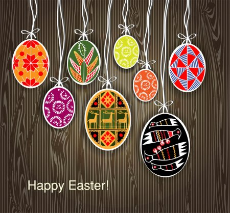 Vector background with easter eggs