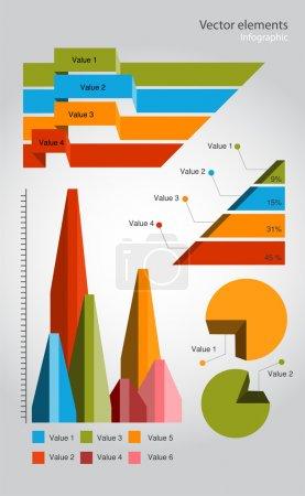 Illustration pour Éléments d'infographie, conception vectorielle - image libre de droit