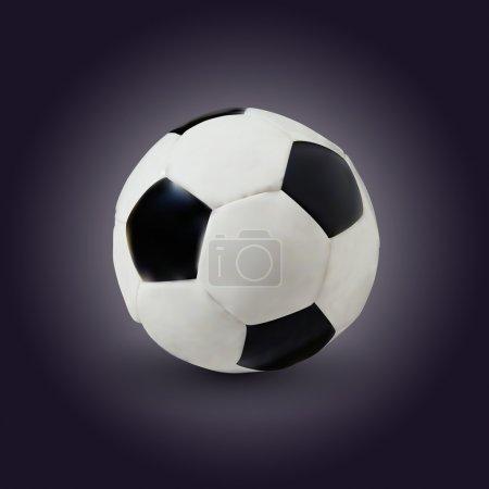 Vector soccer game ball