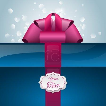 Illustration pour Boîte cadeau vectorielle avec votre texte - image libre de droit