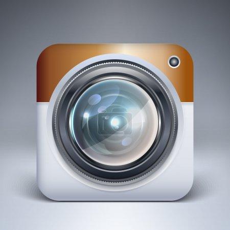 Illustration pour Icône de l'application de caméra vectorielle - image libre de droit