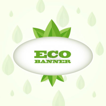 Photo for Vector green eco banner - Royalty Free Image