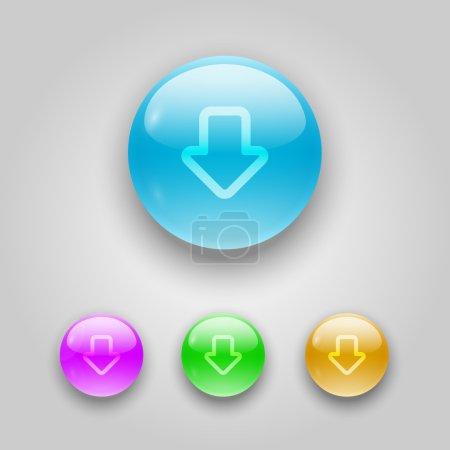 Illustration pour Jeu de boutons vectoriels avec flèches . - image libre de droit