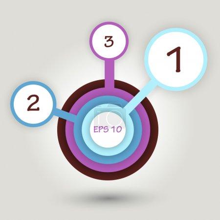 Illustration pour Bannières de cercles vectoriels avec numéros . - image libre de droit